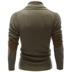cheap Shawl Collar Button Embellished Pullover Sweater