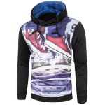 Long Sleeve Drawstring Graphic Hoodie