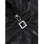 Hooded Lengthen Thicken Pockets Embellished Cotton-Padded Coat deal