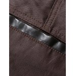 Zipper Fly PU-Leather Edging Straight Leg Pants for sale