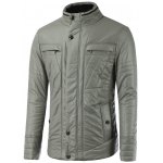 Pocket Design Zippered Buckled Texture Padded Jacket