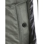 Pocket Design Zippered Buckled Texture Padded Jacket deal