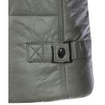 Pocket Design Zippered Buckled Texture Padded Jacket for sale