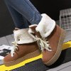 cheap Lace-Up Incresased Internal Suede Short Boots