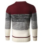 Color Block Twist Striped Sweater deal