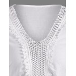 Crochet V Neck Embroidered Blouse deal