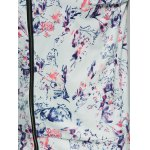 Abstract Floral Print Zippered Jacket for sale