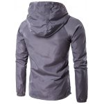 cheap Hooded Drawstring Design Zip-Up Jacket
