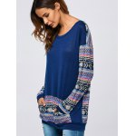 Kangaroo Pocket Tribal Print Sweatshirt deal