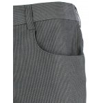 Zip Pocket Mid Rise Straight Casual Pants deal