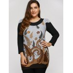 Plus Size Tunic Dress With Paisley Print deal