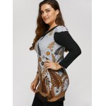 Plus Size Tunic Dress With Paisley Print for sale
