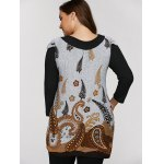 best Plus Size Tunic Dress With Paisley Print