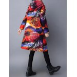 Vintage Print Hooded Padded Coat for sale