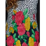 Plus Size Dress With Flower Leopard Print photo