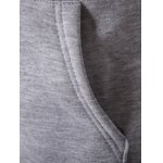 Plus Size Zip Up Selvedge Embellished Hooded Coat for sale