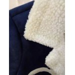best Sueded Splicing Turn-Down Collar Coat