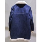 Sueded Splicing Turn-Down Collar Coat for sale
