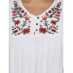 best Plus Size Asymmetric Hem Floral Embroidered Top