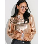 Metallic Color Cropped Pullover Hoodie deal
