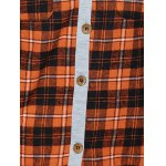Hooded Plaid Shirt with Pocket photo