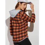 best Hooded Plaid Shirt with Pocket
