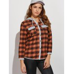 Hooded Plaid Shirt with Pocket deal
