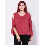 Bell Sleeves Back Cut Out Blouse