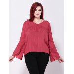 Bell Sleeves Back Cut Out Blouse deal