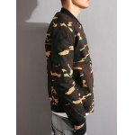 Stand Collar Camouflage Thicken Zip-Up Jacket for sale