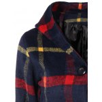 Checked Woolen Coat With Hoodie deal