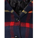 Checked Woolen Coat With Hoodie for sale