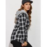 Hooded Tartan Shirt With Pockets for sale