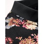 cheap Stand Collar Floral Jacket