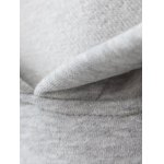 cheap Plus Size Fleece Pocket Patched Long Hoodie