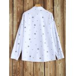 cheap Plus Size Long Sleeve Printed Shirt