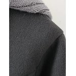 Wool Double Breasted Hooded Coat with Knitted Insert for sale