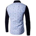 cheap Contrast Insert Chest Pocket Printed Shirt