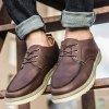 Buy Lace-Up Engraving PU Leather Casual Shoes 44