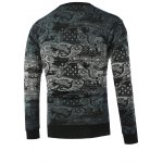 cheap Paisley Pattern Ombre Crew Neck Knitwear