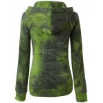 cheap Ombre Topstitched Pocket Design Hoodie