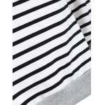 best Inclined Zipper Striped Hoodie