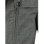Turn-Down Collar Button Up Spliced Jacket for sale
