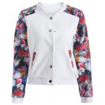 Button Up Floral Long Sleeve Jacket