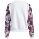 cheap Button Up Floral Long Sleeve Jacket