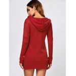 Tunic Hooded Knitwear with Button deal