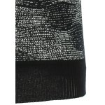 Rib-Hem Heathered Crew Neck Graphic Knitwear for sale