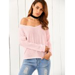 cheap One-Shoulder Loose Sweater