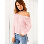 One-Shoulder Loose Sweater for sale