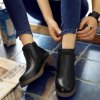 Buckle Strap Low Heel Ankle Boots deal